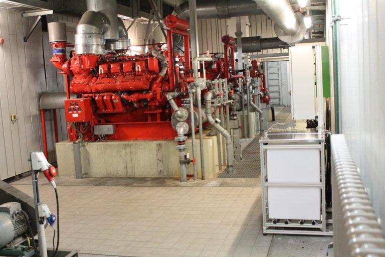 Pumpwerk MTU-Diesel